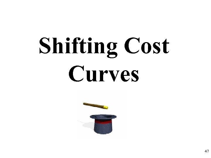 Shifting Cost Curves 47