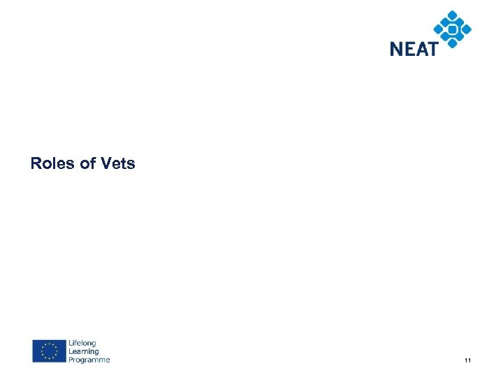 Roles of Vets 11