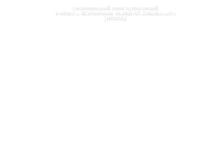 Национальный союз организаций в области обеспечения пожарной безопасности (НСОПБ) Ответственность сторон НОР Ответственность собственников