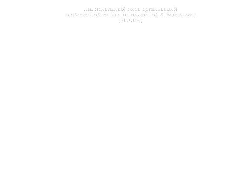Национальный союз организаций в области обеспечения пожарной безопасности (НСОПБ) Преимущества при проведении НОР •