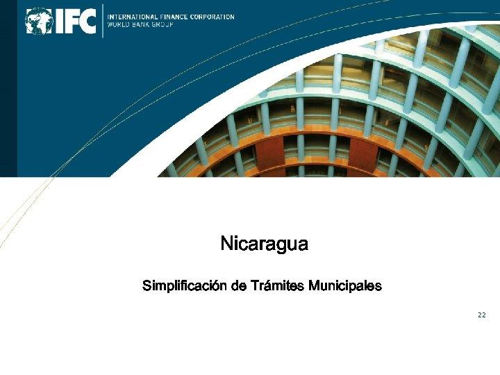 Nicaragua Simplificación de Trámites Municipales 22