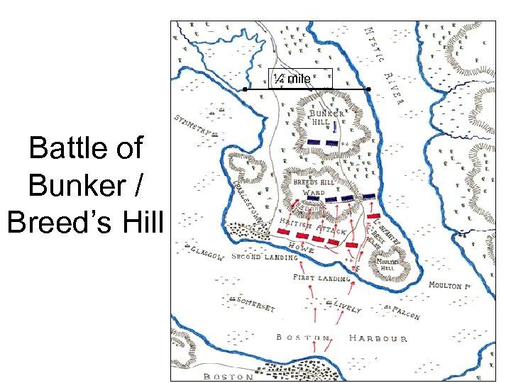 ¼ mile Battle of Bunker / Breed's Hill