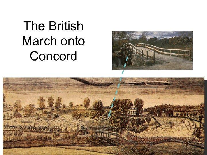 The British March onto Concord