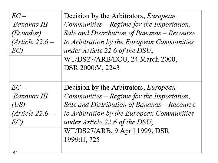 EC – Bananas III (Ecuador) (Article 22. 6 – EC) Decision by the Arbitrators,