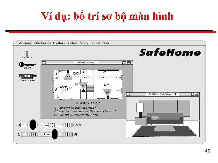 Ví dụ: bố trí sơ bộ màn hình 42