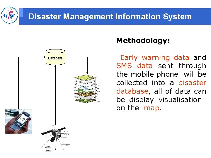 Disaster Management Information System Methodology: Database Early warning data and SMS data sent through
