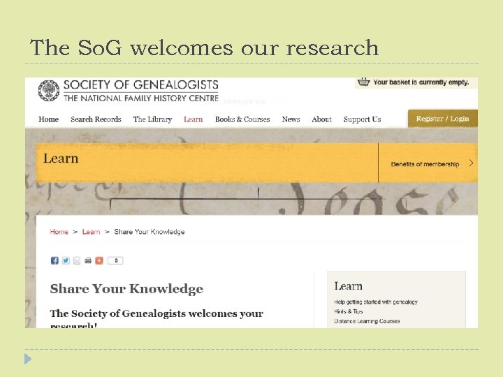 The So. G welcomes our research