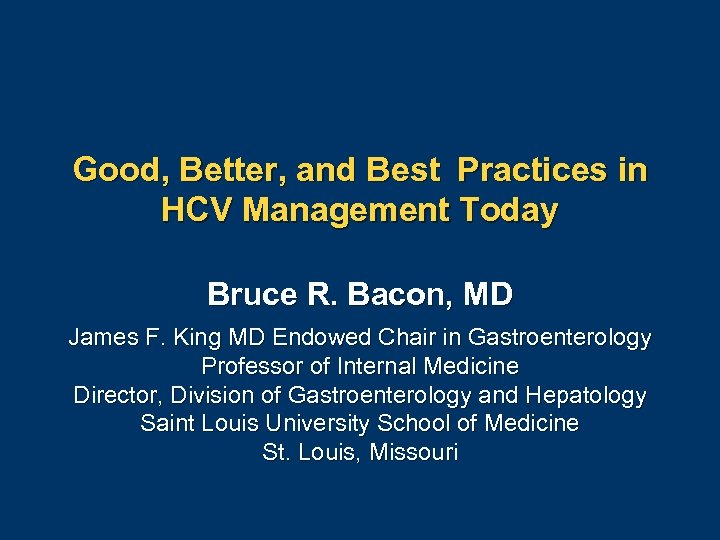 Good, Better, and Best