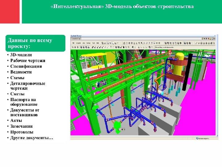 «Интеллектуальная» 3 D-модель объектов строительства