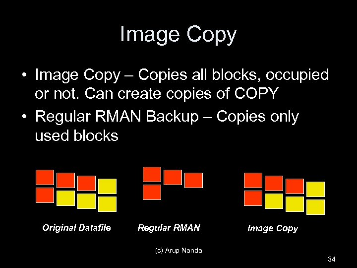 Image Copy • Image Copy – Copies all blocks, occupied or not. Can create