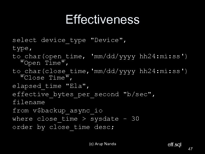 Effectiveness select device_type