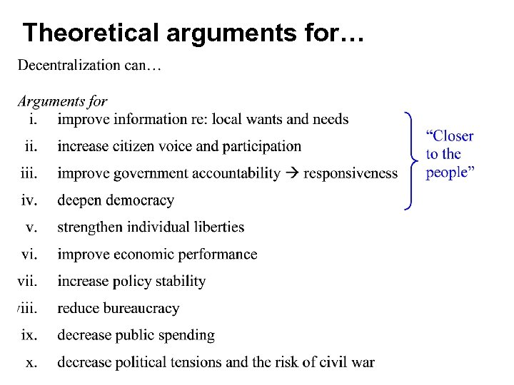 Theoretical arguments for…