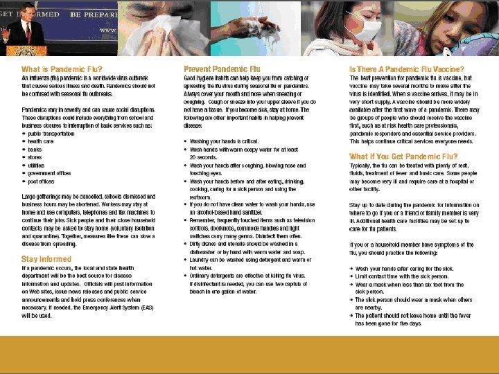WV Pandemic Flu Brochure 25