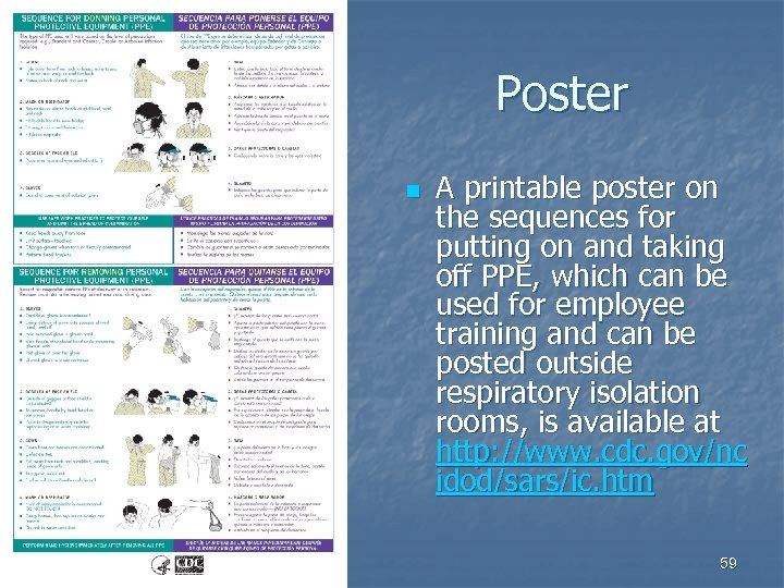 Poster n A printable poster on the sequences for putting on and taking off