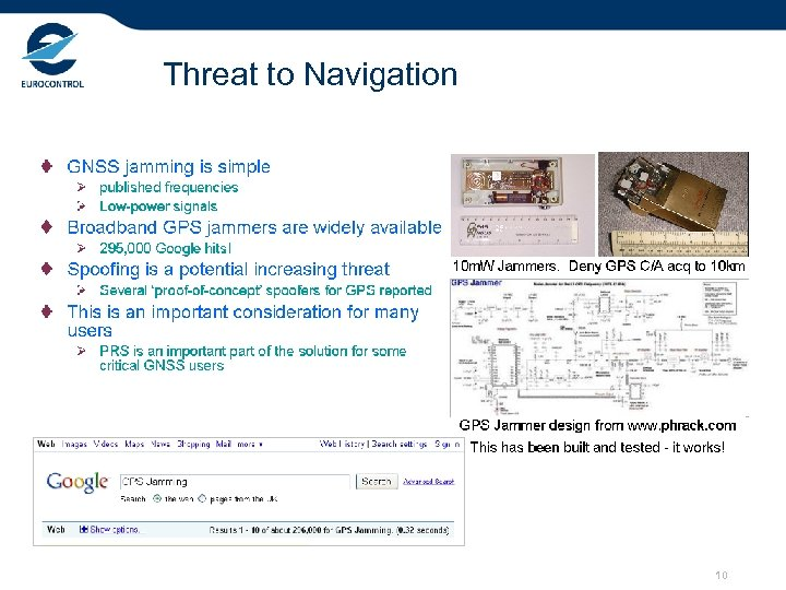 Threat to Navigation 10