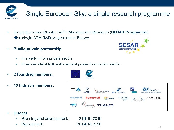 Single European Sky: a single research programme • Single European Sky Air Traffic Management