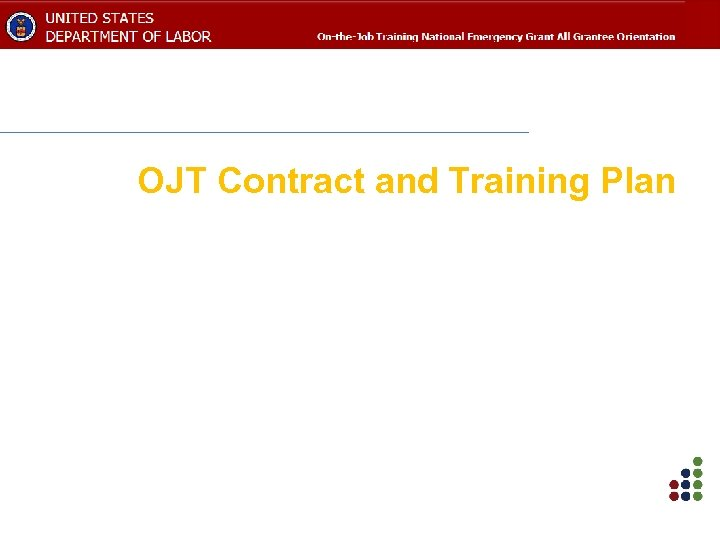 OJT Contract and Training Plan
