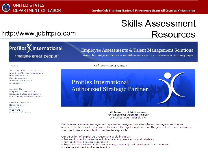 http: //www. jobfitpro. com Skills Assessment Resources