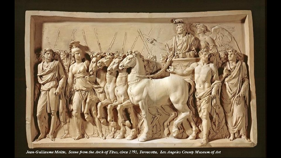 Jean-Guillaume Moitte, Scene from the Arch of Titus, circa 1791, Terracotta, Los Angeles County