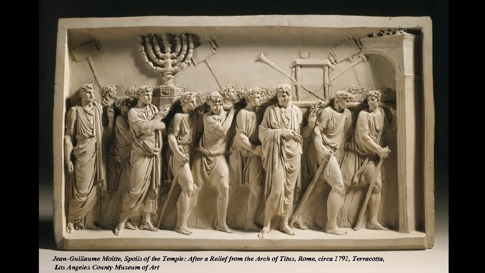 Jean-Guillaume Moitte, Spoils of the Temple: After a Relief from the Arch of Titus,