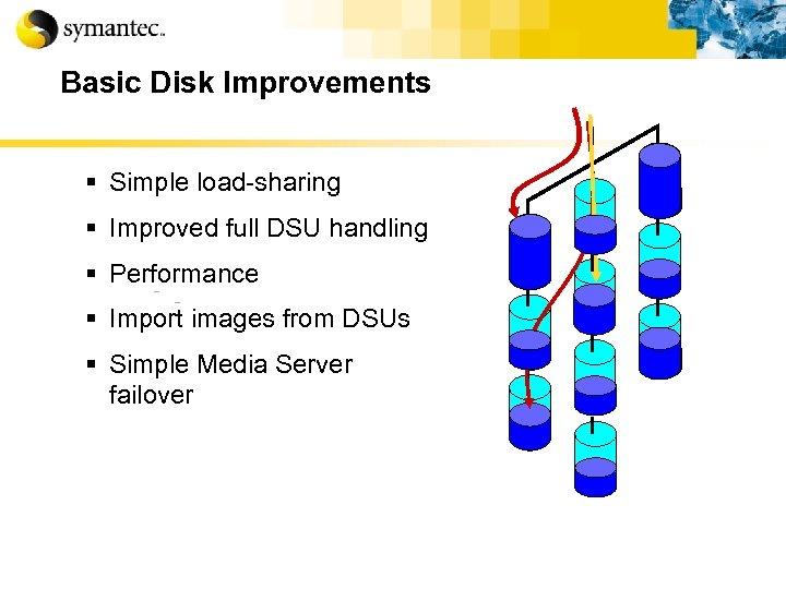 Basic Disk Improvements § Simple load-sharing § Improved full DSU handling § Performance §