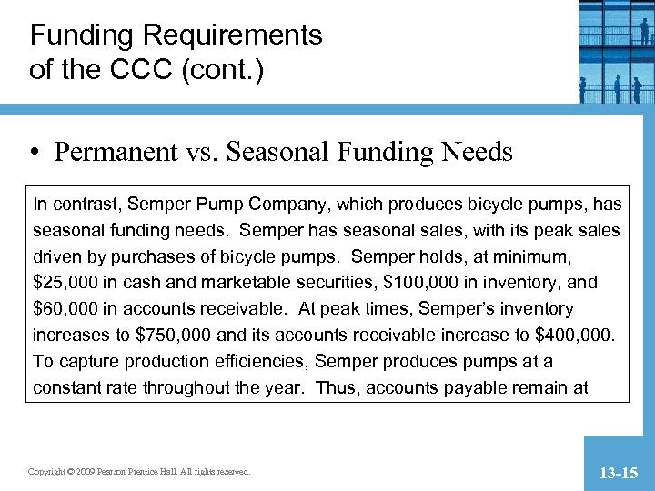 Funding Requirements of the CCC (cont. ) • Permanent vs. Seasonal Funding Needs In