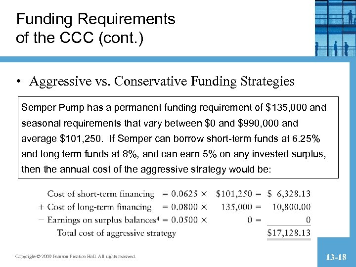 Funding Requirements of the CCC (cont. ) • Aggressive vs. Conservative Funding Strategies Semper