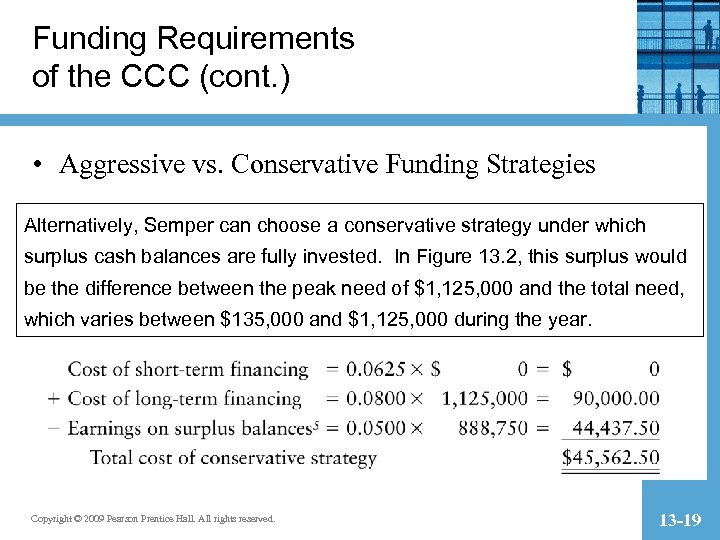 Funding Requirements of the CCC (cont. ) • Aggressive vs. Conservative Funding Strategies Alternatively,