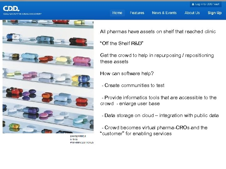 "All pharmas have assets on shelf that reached clinic ""Off the Shelf R&D"" Get"