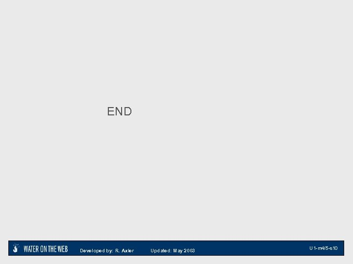 END Developed by: R. Axler Updated: May 2003 U 1 -m 4/5 -s 10