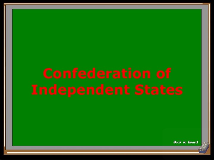 Confederation of Independent States Back to Board
