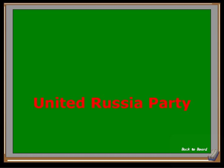 United Russia Party Back to Board