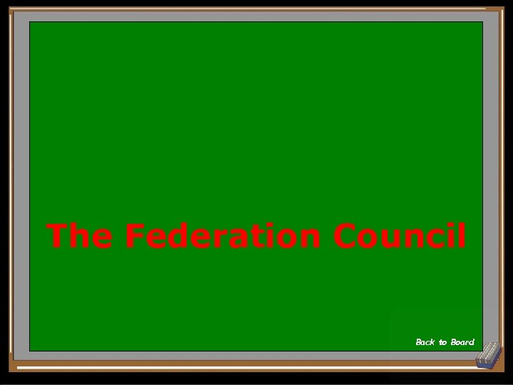 The Federation Council Back to Board