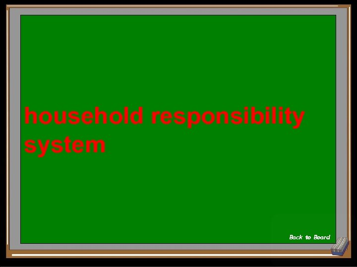household responsibility system Back to Board