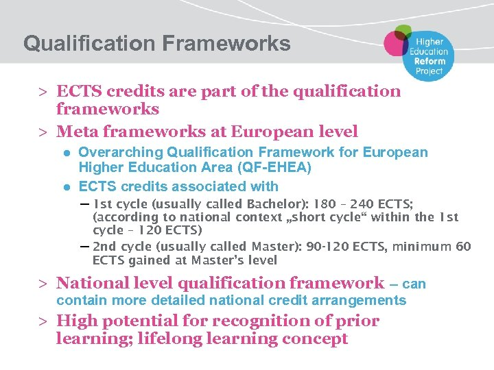 Qualification Frameworks > ECTS credits are part of the qualification frameworks > Meta frameworks