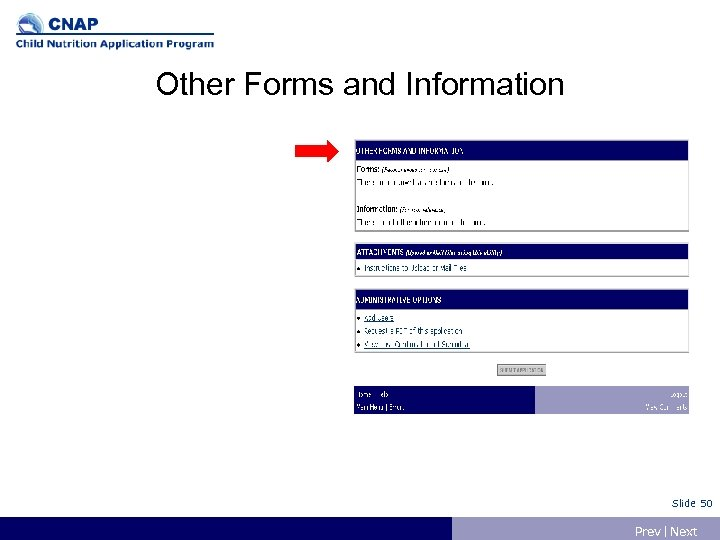 Other Forms and Information Slide 50 Prev | Next