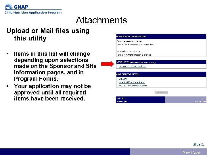 Attachments Upload or Mail files using this utility • Items in this list will