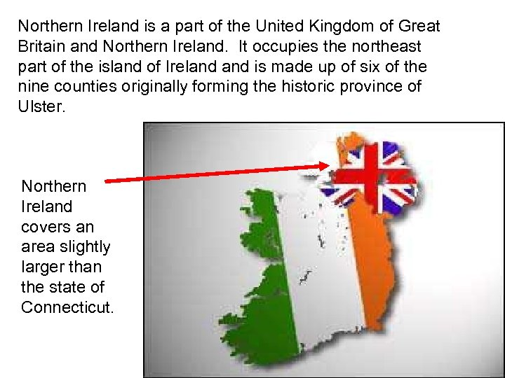 Northern Ireland is a part of the United Kingdom of Great Britain and Northern