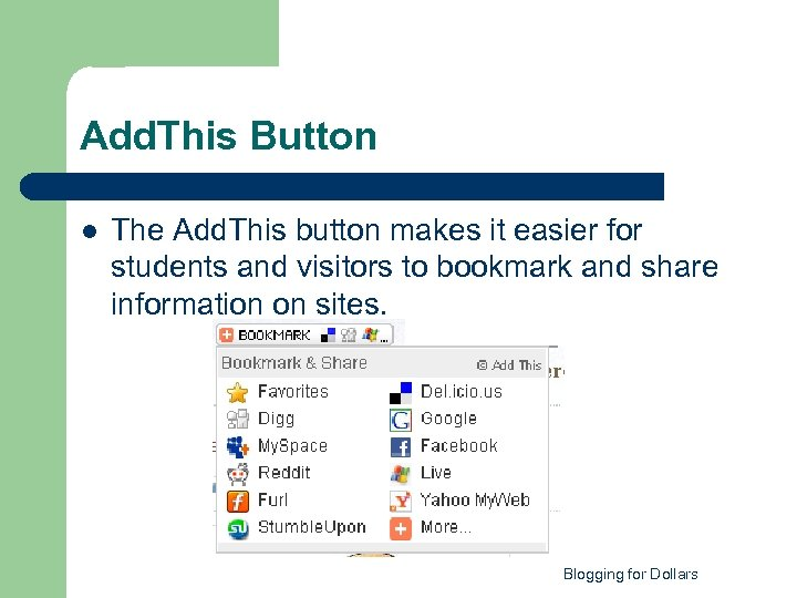 Add. This Button l The Add. This button makes it easier for students and