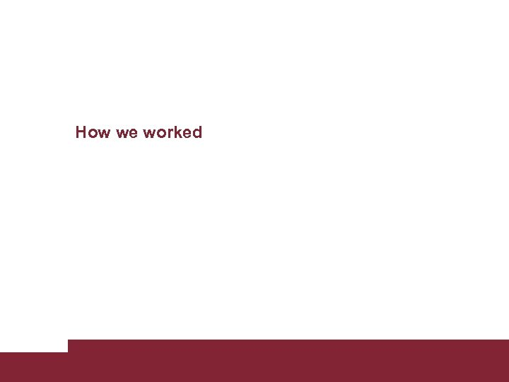 How we worked Building new Sapienza web site April 12 2011 Pagina