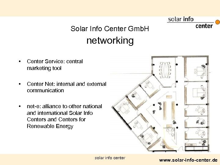Solar Info Center Gmb. H networking • Center Service: central marketing tool • Center