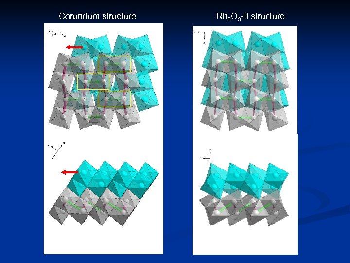 Corundum structure Rh 2 O 3 -II structure