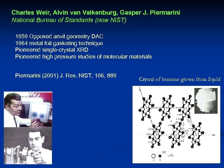 Charles Weir, Alvin van Valkenburg, Gasper J. Piermarini National Bureau of Standards (now NIST)