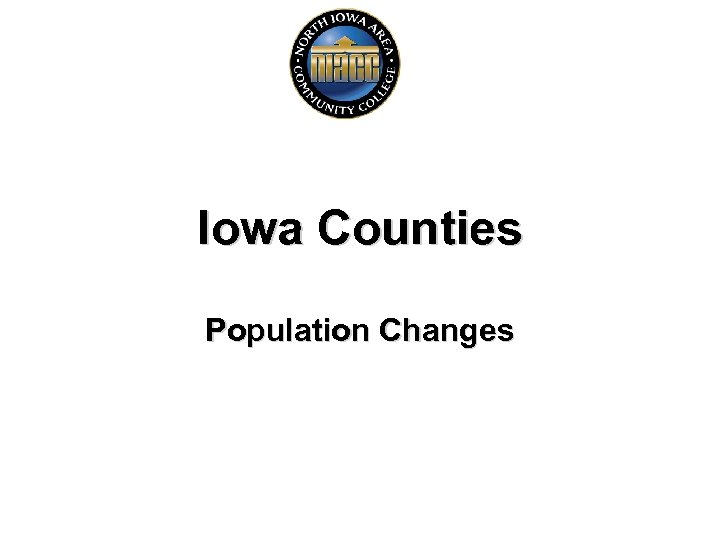 Iowa Counties Population Changes