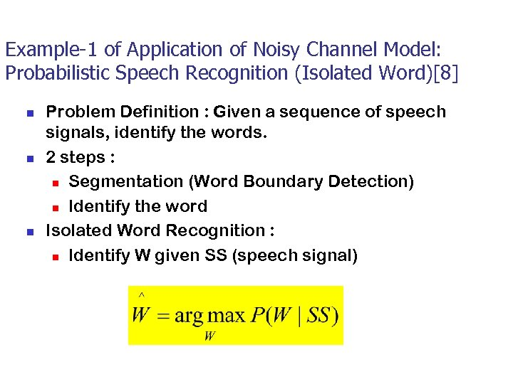 CS 460 449 Speech Natural Language Processing and