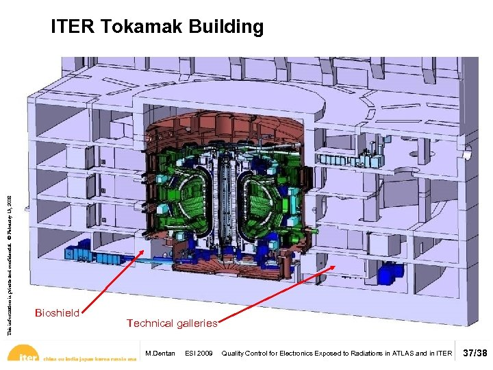 This information is private and confidential. © February 13, 2008 ITER Tokamak Building Bioshield