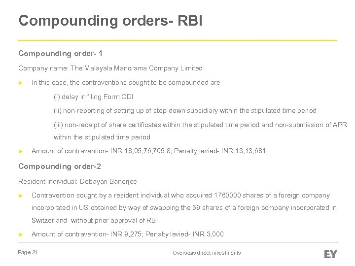 Compounding orders- RBI Compounding order- 1 Company name: The Malayala Manorama Company Limited ►