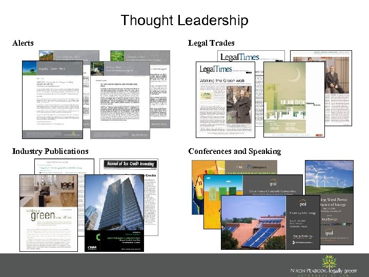 Thought Leadership Alerts Legal Trades Industry Publications Conferences and Speaking