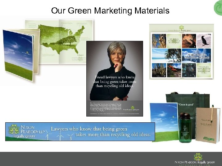 Our Green Marketing Materials
