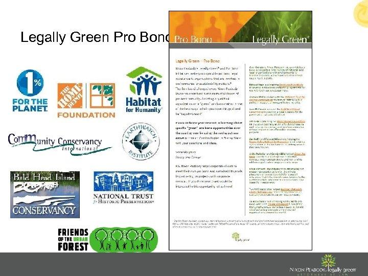 Legally Green Pro Bono